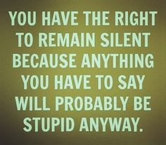 I can't take the stupid today.  #STFU