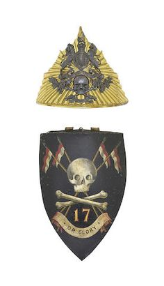 17th lancers cap plate 1840-56  Christies