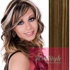 "HOTstyle - 16"" (40cm) Tape Hair / Tape IN human REMY hair - dark brown/blonde >>> See this great product @ http://www.amazon.com/gp/product/B00P7XGGVC/?tag=beautycare888-20&puv=060816081755"
