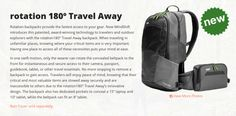 Travel Product of the Week: Rotation 180º Travel Away Backpack