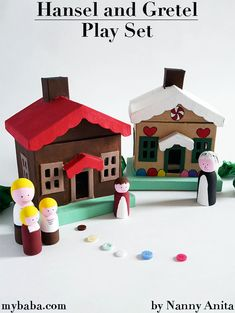 Story bags are a great way to add to storytime. This Hansel and Gretel play set is fun for kids to use to act out the story or as part of imaginative play. Things To Do Inside, Fun Things, Sensory Bins, Sensory Play, Hobbies And Crafts, Arts And Crafts, Dolls House Figures, Bedtime Stories, Imaginative Play