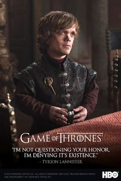 Tyrion Lannister season 2 promotional poster for Game of Thrones