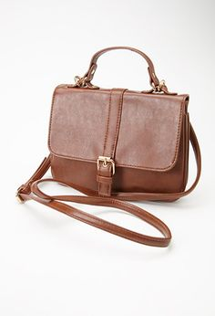 Buckled Faux Leather Crossbody | Forever 21 - 1000135492