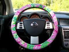 Lilly Pulitzer Steering Wheel Cover.