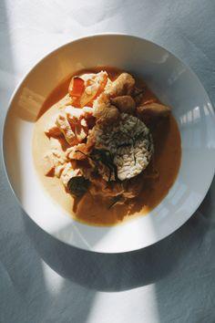 Panang curry with sweet potato.