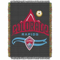 Colorado Rapids MLS Woven Tapestry Throw Blanket (48x60)