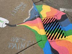 Sidewalk Art Projects Offer Colorful Diversion for Pedestrians Chalk Design, Sidewalk Chalk Art, Chalk Drawings, Color Pencil Art, Aesthetic Themes, Urban Art, Art Projects, Graffiti, Artsy
