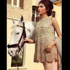 City of garden crystal lace outfit. #zarashahjahan #vintage #couture #pakistan #bridal #wedding #fashion
