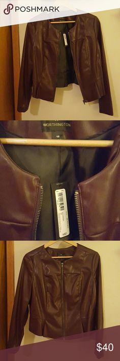 Plum suit jacket / blazer Gorgeous plum-colored pleather suit jacket / Blazer. Brand new with tags. Worthington  Jackets & Coats Blazers