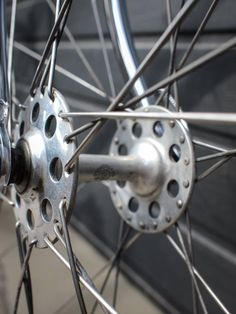 #Campagnolo high flange hub on a vintage steel #Bianchi  #bikesofbucharest