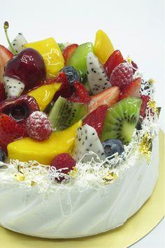 Mixte gâteau à la crème de fruits