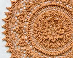Doily pattern - crochet pattern - crochet doily - ALYA - textured crochet - instant download - modern crochet pattern - round doily