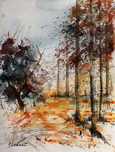 "Saatchi Online Artist Pol Ledent; Painting, ""Watercolor 040902"" #art"