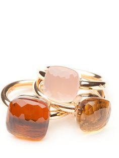 Pomellato Rose Quartz Nudo Ring by Pomellato  from Amanda Pinson Jewelry