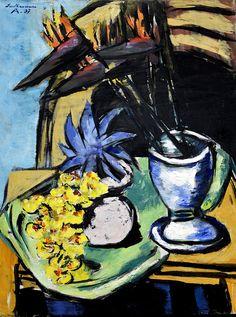 Max Beckmann - Stilleben mit Strelitzien und gelben Orchideen, 1937