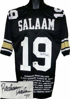 Rashaan Salaam signed Colorado Buffaloes Black Custom Jersey 94 (Heisman) .   217.17. Rashaan d11429007