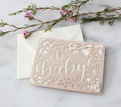 This quick cut card is perfect for a baby shower or first birthday.
