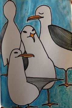 #seagull #draw #art #aquarelle #sketchbook