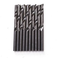 7.32$  Watch now - New 10pcs 1/8 Inch 3.175x25mm Shank 1 Flute Carbide Spiral End Mill CNC Router Bit Tool For Acrylic PVC Wood And Other Materials   #buychinaproducts