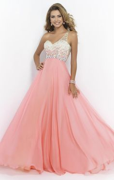 One Shoulder Sweetheart Backless Chiffon A Line Sleeveless Floor Length Prom Dre