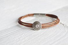 Bracelet with antik leather. on Etsy, 249:00kr