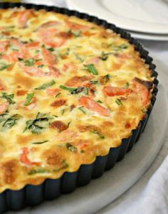 Use leftover salmon to create an entire meal with this Salmon Quiche Recipe! It's perfect for dinner or lunch and it is a fab addition to family brunch! Salmon Quiche - Use leftover salmon to create an entire meal with this Salmon Quiche Recipe! Quiches, Fish Recipes, Seafood Recipes, Cake Recipes, Seafood Quiche, Lobster Quiche Recipe, Salmon Quiche, Leek Quiche, Salmon Pie