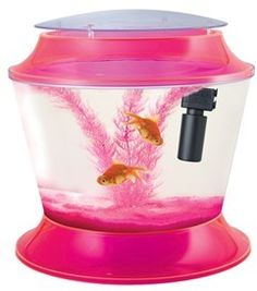 c62e2870fa5 Extra Large Goldfish Bowl 17 Ltr Pink Includes Gravel Filter and Plant Fish  R Fun Extra