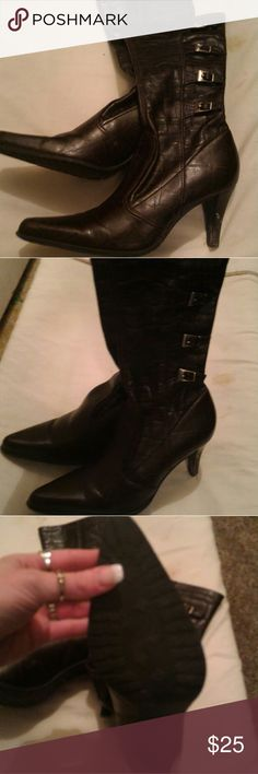 New 6-6.5 Nwot Shoes Heeled Boots