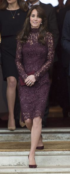 Kate Middleton in Eggplant Dolce & Gabbana Dress - Kate Middleton at the GREAT Britain Creative Event