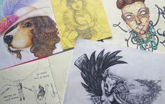 Desenhos inacabados | alineando.com.br #desenhos #ilustração #pontilhismo #drawing #pointillism #illustration
