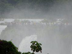 The observation deck of the Devil's Throat, Iguazu Falls Iguazu Falls, Niagara Falls, South America, Deck, Nature, Naturaleza, Nature Illustration, Outdoors, Decor