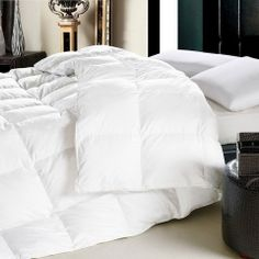 "Highland Feather 35 oz. King Duvet 320T Hutterite WGD 12"" SB in White - Beyond the Rack"