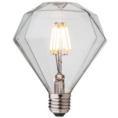 Get inspired with this energy efficient LED light bulb with iconic diamond-shaped glass. It is dimmable with long lifetime and goes hand in hand with a charm and style. Worldwide Shipping