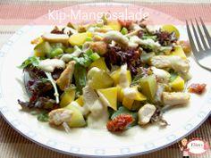 Kip Mango salade Cobb Salad, Potato Salad, Potatoes, Ethnic Recipes, Food, Potato, Meals, Yemek, Eten