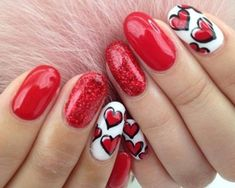 Gone are the days when people will look at you because of different colored nails. Nowadays, it's not only colors you can alternate but designs as well. Choose from two to three designs and alternate them for a stylish look.