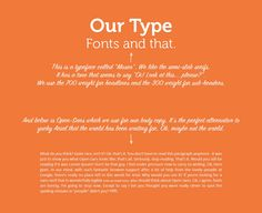 Our branding - Typography