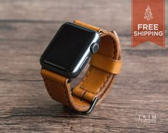 Apple Watch Band Leather Watch Bands in Honey Brown by TRIMleather Apple Sport Band, Iphone Price, Apple Watch Faces, Honey Brown, Apple Watch Series 2, Leather Conditioner, Leather Watch Bands, Cool Watches, Stylish Watches