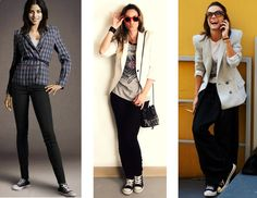 all star com blazer Blazers, Converse All Star, Casual, Ideias Fashion, Stars, Chic, Outfits, Girls, Makeup Course