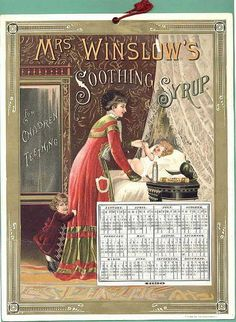 victorian trade cards | Mrs. Winslow's Soothing Syrup Victorian Trade Cards