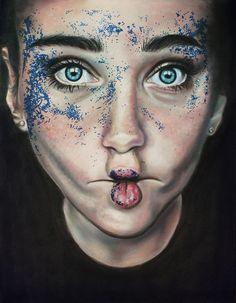 Art by Jessica Padilla - Pastel on 400 Series Artagain Black Paper Pastel Artwork, Ap Studio Art, High School Art, Color Pencil Art, Ap Art, Black Paper, Paint Markers, Portrait Ideas, Gel Pens