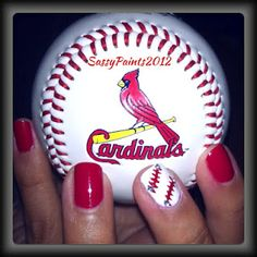 Cute baseball nails! Except mine would be Rangers :)
