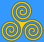 The symbol for mother, or the Triple Goddess, representing the stages of life: Maiden, Mother, Crone