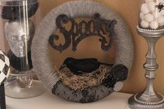 Spooky yarn wreath- gorgeous and easy