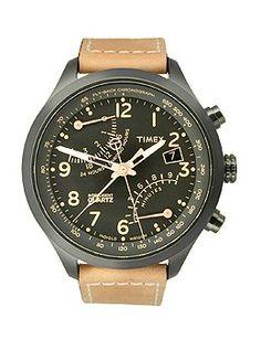Timex Fly-Back Chrono Black Dial Men's watch