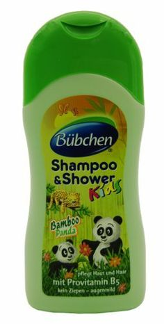 Bubchen Bübchen Kids Shampoo & Shower Bamboo Panda with Aloe Vera 6.76 fl. oz. (200ml) by Bubchen. $12.99. Bubchen Bübchen Kids Shampoo & Shower Bamboo Panda is the ideal cleansing product for kids.Its special ingredients are specifically chosen to take best care of a child's gentle skin. Natural ingredients such as Aloe Vera, Wheat Protein and Provitamin B5 (Panthenol) are exceptionally skin caring and provide intensive moisture.