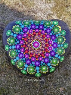 Image of Natural Heart stone Mandala