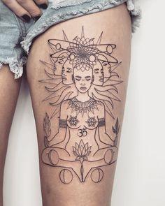 51 best ideas for tattoo girl face art - various. - - 51 best ideas for tattoo girl face art – various. Neue Tattoos, Body Art Tattoos, Sleeve Tattoos, Small Tattoos, Hindu Tattoos, Tattoo Girls, Girl Tattoos, Tattoos For Women, Form Tattoo