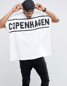 ASOS+Extreme+Oversized+T-Shirt+With+Copenhagen+Print+In+Heavy+Jersey