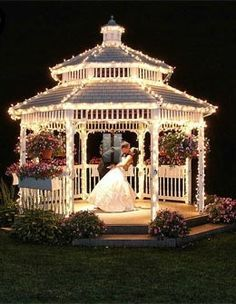 I Want A Gazebo So Much In Our Back Yard!!! Gorgeous Gazebo · Gazebo  Wedding DecorationsWedding ...
