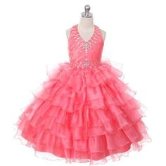 Vanna Pageant Gown - CORAL